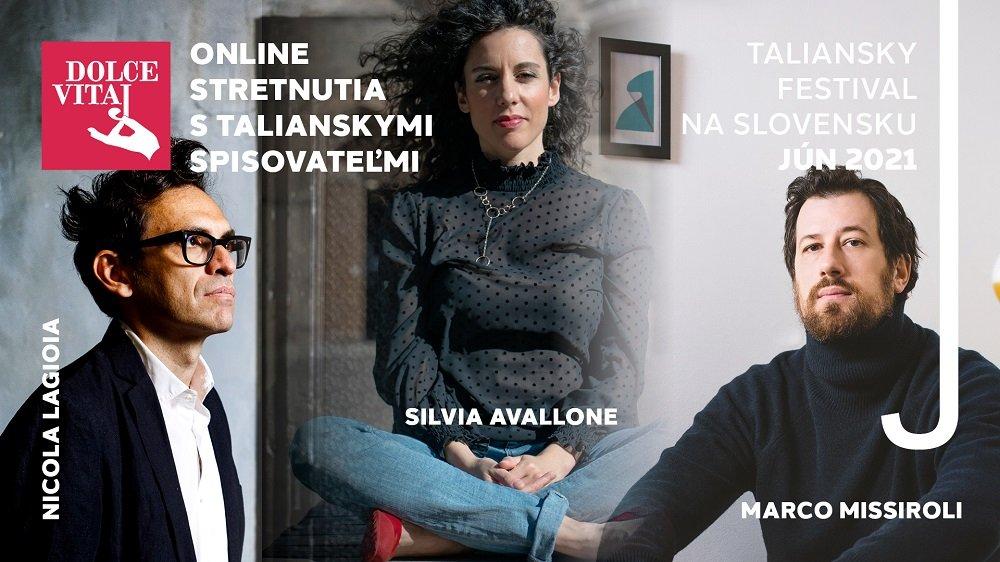 Festival talianskej kultúry DOLCE VITAJ ponúkne stretnutia s troma významnými osobnosťami súčasnej  literatúry